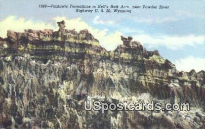 Powder River - Hells Half Acre, Wyoming WY Postcard