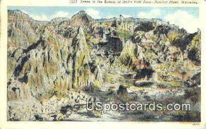 Bottom, Hells Half Acre - Powder River, Wyoming WY Postcard
