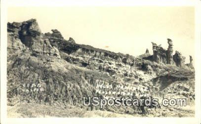 Real Photo Hells Half Acre - Yellowstone Highway, Wyoming WY Postcard