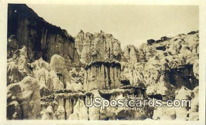 Real Photo The Pulpit - Hells Half Acre, Wyoming WY Postcard