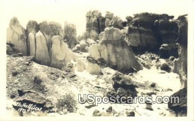 Real Photo  - Hells Half Acre, Wyoming WY Postcard