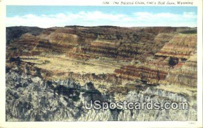 Painted Cliffs - Hells Half Acre, Wyoming WY Postcard