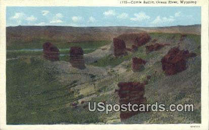 Castle Buttes - Green River, Wyoming WY Postcard