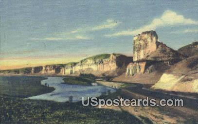Toll Gate Rock - Green River, Wyoming WY Postcard