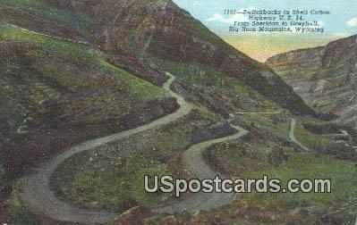 Switchbacks, Shell Canon - Big Horn Mountains, Wyoming WY Postcard