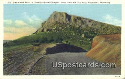Steamboat Rock - Big Horn Mountains, Wyoming WY Postcard