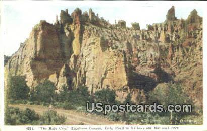 Holy City, Shoshone Canyon - Yellowstone National Park, Wyoming WY Postcard