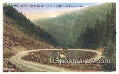Sylvan Pass Loop - Yellowstone National Park, Wyoming WY Postcard