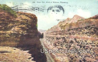 Shale Cut West - Wilkins, Wyoming WY Postcard