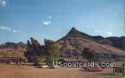 Trail Shop & Motel - Wapiti, Wyoming WY Postcard