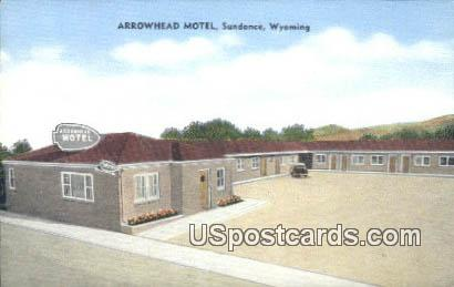 Arrowhead Motel - Sundance, Wyoming WY Postcard