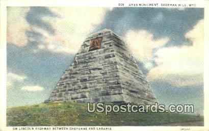 Ames Monument, Sherman Hill - Laramie, Wyoming WY Postcard