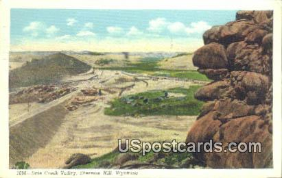 Dale Creek Valley - Sherman Hill, Wyoming WY Postcard