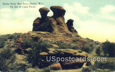 Sphinx Rock, Red Buttes District - Wyoming WY Postcard