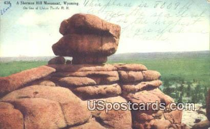 Monument - Sherman Hill, Wyoming WY Postcard