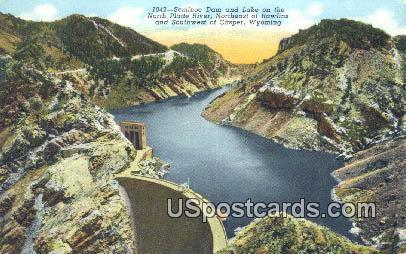 Seminoe Dam & Lake - Casper, Wyoming WY Postcard