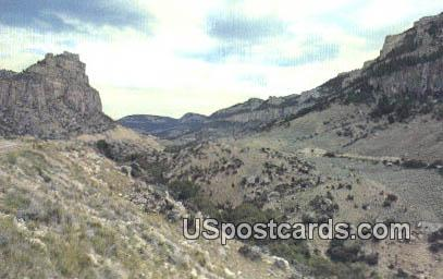 Tensleep Canyon - Big Horn Mountains, Wyoming WY Postcard