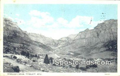 Tensleep Canyon - Ten Sleep, Wyoming WY Postcard