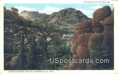 Solid Granite Canyon - Sherman Hill, Wyoming WY Postcard