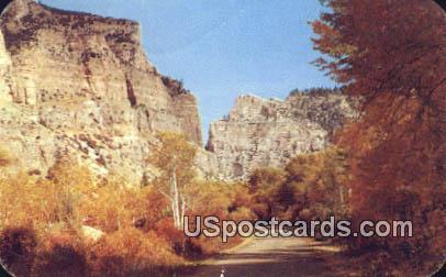 Ten Sleep Canon - Big Horn Mountains, Wyoming WY Postcard