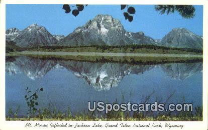 Mt Moran, Jackson Lake - Grand Teton National Park, Wyoming WY Postcard
