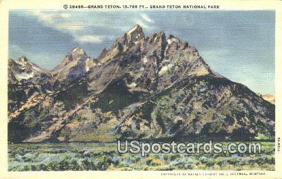 Grand Teton - Grand Teton National Park, Wyoming WY Postcard