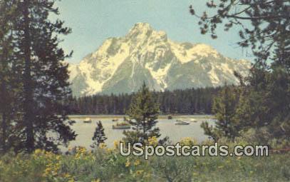 Mt Moran, Colter Bay - Grand Teton National Park, Wyoming WY Postcard