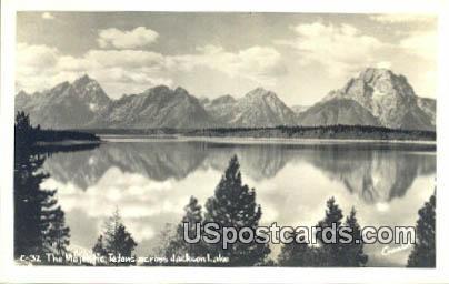 Real Photo  - Jackson Lake, Wyoming WY Postcard