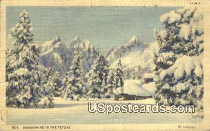 Tetons, WY Postcard       ;      Tetons, Wyoming