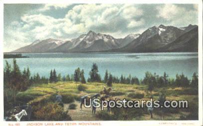 Jackson Lake - Teton Mountains, Wyoming WY Postcard