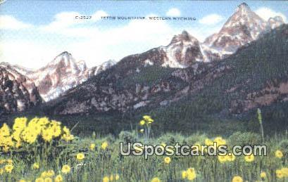 Teton Mountains, WY Postcard       ;      Teton Mountains, Wyoming