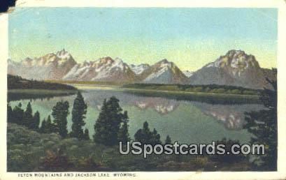 Teton Mountains - Jackson Lake, Wyoming WY Postcard