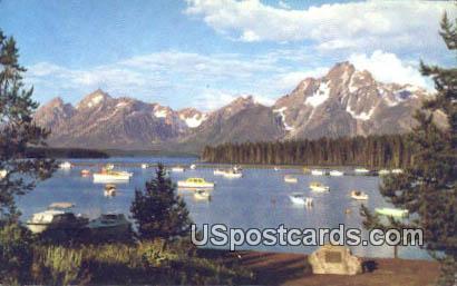 Colter Bay Marina - Grand Teton National Park, Wyoming WY Postcard