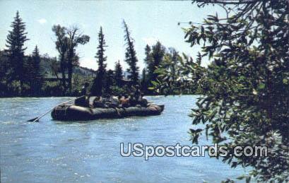 Float Trip - Grand Teton National Park, Wyoming WY Postcard