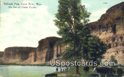 Pallisade Park - Green River, Wyoming WY Postcard