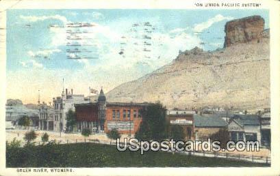 Union Pacific System - Green River, Wyoming WY Postcard