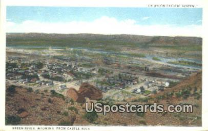 Castle Rock - Green River, Wyoming WY Postcard