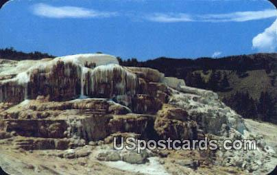 Terraces, Mammoth Hot Springs - Yellowstone National Park, Wyoming WY Postcard