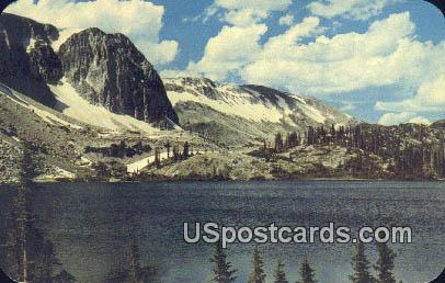 Lake Marie & Snowy Range - Medicine Bow National Forest, Wyoming WY Postcard