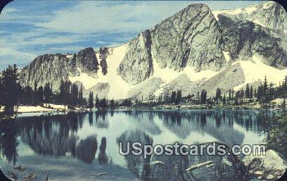 Mountain, Mirror Lake - Medicine Bow National Forest, Wyoming WY Postcard