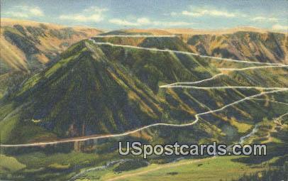 Switchbacks - Yellowstone National Park, Wyoming WY Postcard