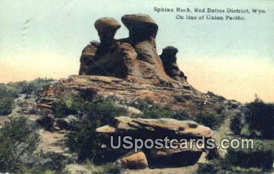 Sphinx Rock - Red Buttes District, Wyoming WY Postcard