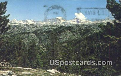 End of Skyline Drive - Fremont Lake, Wyoming WY Postcard