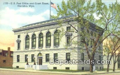 US Post Office & Court House - Sheridan, Wyoming WY Postcard