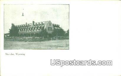 Sheridan Inn - Wyoming WY Postcard