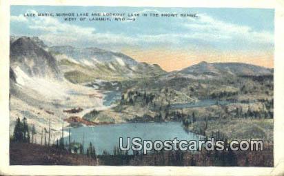 Lake Marire, Mirror Lake - Laramie, Wyoming WY Postcard