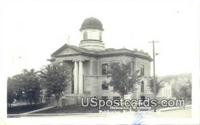 Real Photo Court House - Newcastle, Wyoming WY Postcard