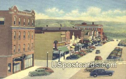 North Front Street - Rock Springs, Wyoming WY Postcard