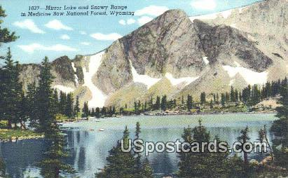 Mirror Lake - Medicine Bow National Forest, Wyoming WY Postcard