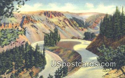Rock Creek Switchbacks - Yellowstone National Park, Wyoming WY Postcard